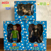 Medicom Toy Story Andy Sid Scud Vcd Vinyl Collectible Doll Disney Figure Set