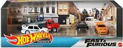 Hot Wheel Premium Collector Set Fast And Furious Supra Wagen Mkiii Transporter