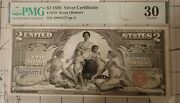 1896 2 Educational Silver Certificate, Pmg 30 Very Fine, Fr. 248 Comment Free