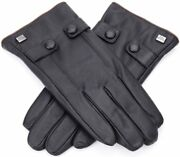 Marino Menand039s Warm Fashion Leather Gloves Extreme Cold Weather Waterproof Brown L