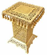 Brass Table Ethnic Design Brass Decorative Corner Table With Hanging Bells Carve