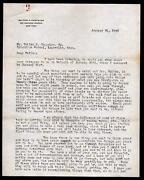 1925 Walter Chrysler Signs Letter Dad - Advise To Son Walter Jr - Rare Signature