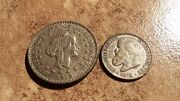 Old Brazilian Silver Coins- 1000 Reis From 1913 And 200 Reis From 1868