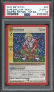Sam Sinclair Holo 2021 Metazoo Cryptid Nation 1st Edition 20/159 Psa 10 Low Pop