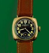 Vintage 1938 Rolex Army Military Solid Rose Gold 9 Karat Menand039s Boyand039s Size Watch