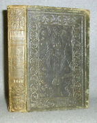 Antique Decorative Leather Book Humor Sayings Wit History Odd Fellow Volume 1840