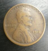1910 S Lincoln Wheat Cent Vf Very Fine Bronze Penny 1c Coin Collectible