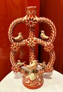 """Vintage Large Handmade Mexican Tree Of Life Candelabra, Signed """" B"""""""