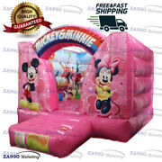 10x13ft Inflatable Mickey And Minnie Mouse Bounce House With Air Blower