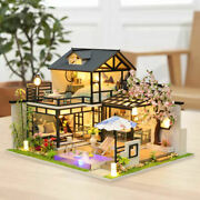 Wood Dollhouse Miniature With Furniture And Led Light Craft Doll House 3d Puzzles