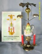 Xtra Rare German Christmas Angel Chimes And Tree Topper/lauscha And Spun Glass-nos