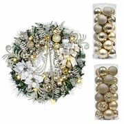 Valery Madelyn Elegant Gold And White Christmas Ball Ornaments Bundle 3 Items...