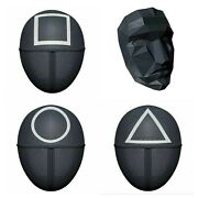 Squid Game Face Mask Cosplay Circle Square Triangle Boss Face Evil Halloween Usa