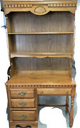 Vintage Desk With Hutch And Desk Chair