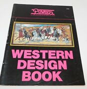 Powers Western Design Stained Glass Pattern Book Remington, O.c.seltzer Patterns