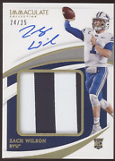 2021 Panini Immaculate Zach Wilson Premium Patch Gold Rc Auto /25