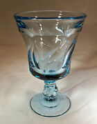 Fostoria Jamestown Blue 10-ounce Footed Water Goblet