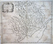 C1710 Monmouth County Severn River Wales Robt. Morden Original Copperplate