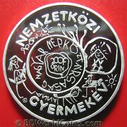 1979 Hungary 200 Forint Silver Proof Unicef Year Of The Child Drawings Iyc 38mm