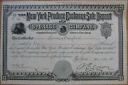 New York Produce Exchange Safe Deposit And Storage Co. 1901 Stock Certificate - Ny