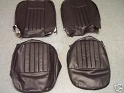 Mgb Black Leather Interior Kit W/red Piping Interior 62-65 To 57985