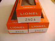 Lionel 2404-2405-2406 Licensed Reproduction Boxes 3