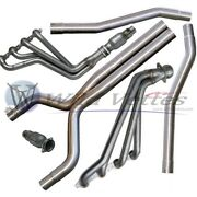 Bbk 10-12 Camaro Ss V8 Stainless Steel Long Tube Headers, Cats, Mids, And X-pipe