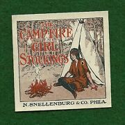 Early Vintage Campfire Girl Advertising Stamp - Stockings - Not Scout - Unique