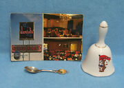 Vintage Chicago Illinois Souvenir Lot Of Spoon Bell And Postcard