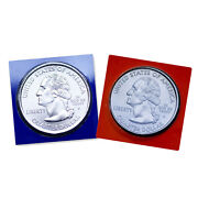 2007 P+d Idaho Quarters Satin Coins In Mint Wrappers From Mint Set