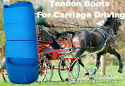 Horse Tendon Boots R Blue Miniature To Horse Size Ideal For Carriage Driving