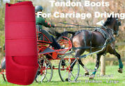 Horse Tendon Boots Red Miniature To Horse Size Ideal For Carriage Driving