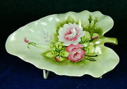 8-pcs. Or Less Of Lefton, Hand Painted Heritage-green Pattern Unused China