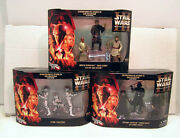 Set Of 9 Star Wars Revenge Of Sith Dvd Collection Figures- 3 Boxes Mib 112003
