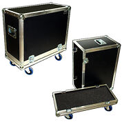 Ata 3/8 Carpetliner Amp Case W/4and039and039 Casters For Line 6 Flextone Iii Plus