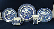 53-pieces Of Churchill English Blue Willow Willow-blue China