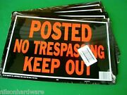 48pc 10x14 Aluminum Posted No Trespassing Tresspassing Keep Out Sign Rust Free