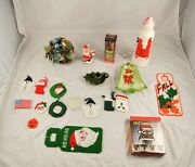 Lot Of 20 Knit And Vintage Holiday And Christmas Household Decorations Light S5y19
