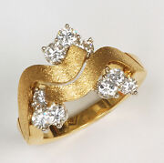 1.18 Carats Diamond Ring Set In 18k Gold And Platinum - 1973 Vintage Look