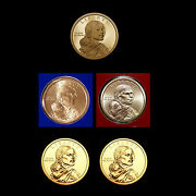 2011 P+d+s Native American Sacagawea Mint Proof Set Of 5 Us Coins