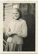 Russian Girl Posing For The Camera 1942 Snapshot Photo Taken By A German Soldier