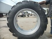 2 12.4x28 Case 430 Tractor Tires W/ Wheels And 2 500x15 3 Rib W/tubes