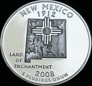 2008 S New Mexico Mint Silver Proof Statehood Quarter From U.s. Proof Set