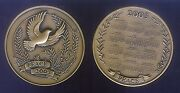Peace On 2003 Large Heavy Bronze Calendar Medal Unc Franklin Mint Boxed With Coa
