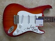 Lita Ford The Runaways Keep Rockin Signed Autographed Guitar Psa Certified