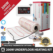 Underfloor Heating Mats 200w Dual Core And Thermostat Option For Under Tile Floor