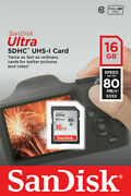 16gb Sd Sandisk Memory Card For Canon Powershot A650 Is A720 Is Camera