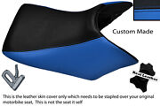 Black And Blue 04-08 Custom Fits Honda Cbf 500 600 Front Leather Seat Cover