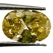 Gia Certified South Africa Fancy Color Diamond 0.86 Cts Natural Untreated Oval
