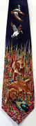 New Lab Dogs, Duck Hunting, Dog With Duck Decoy, Fun Animal Novelty Necktie
